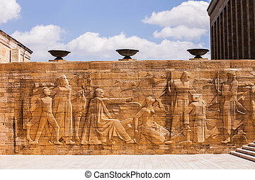 Relief at Mausoleum of Mustafa Kemal Atatuuml;rk - Relief at...