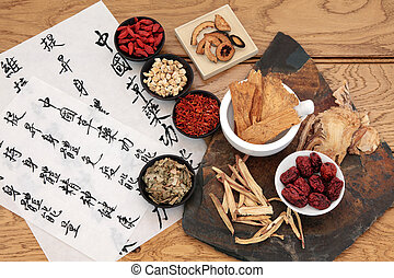 Chinese Medicine - Traditional chinese herbal medicine...