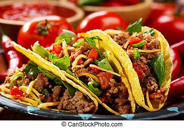 placa, Tacos