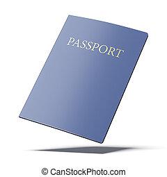 Passport on white background