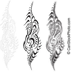 decorativ ornament - Vector - Vector scroll ornament