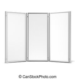 Folding screen banner isolated on a white background 3d...