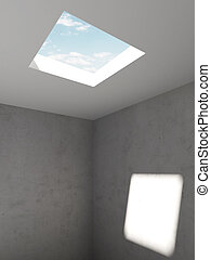 hole in the ceiling. 3d render
