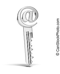 key with at e-mail sign