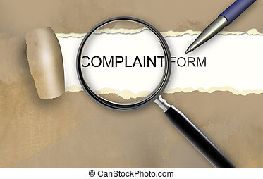 Complaint form made in 2d software