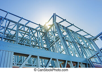 New home construction framing. - New home under construction...