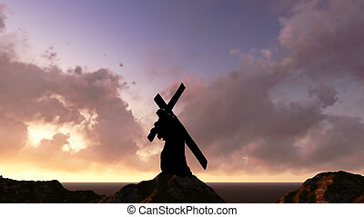 Christ carrying the cross - The figure of Christ carrying...