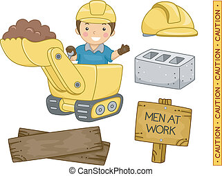 Construction Elements - Illustration of Ready to Print...
