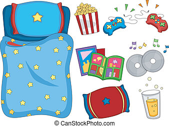 Sleepover Elements - Illustration of Ready to Print...