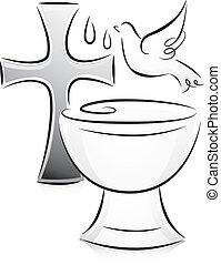pretas, branca, Batismo