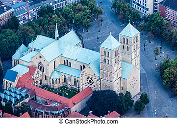 Cathedral of Muenster - aerial view of the Cathedral of...