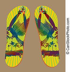 palm beach sandals vector art