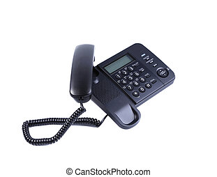 One landline phone. Isolated on a white background.
