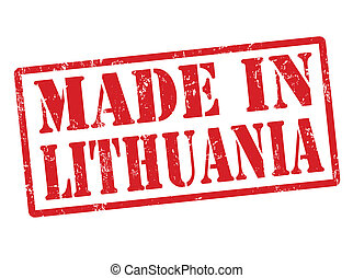 Made in Lithuania stamp - Made in Lithuania grunge rubber...