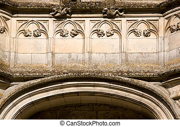 french castle detail