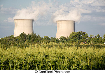 nuclear power plants - corn farming and two nuclear power...