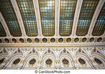 rich decorated palace ceiling