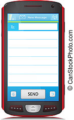 Space for SMS text on touch screen phone - Touchscreen...