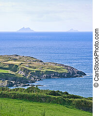Skelligs - The rocky peaks of the Skelligs rise from the...