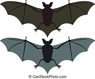 Bats - Two vector bats silhouettes