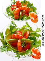 Shrimp Cocktail with avocado and tomatoes