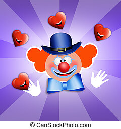 Clown Therapy - clown with smile heart