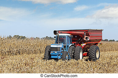 Farm Tractor and Wagon