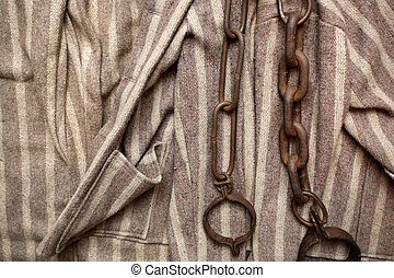 prisoner chains and clothes - prisonner chains and clothes...
