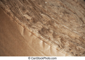 Roll of Glass Wool, Insulation Materials - Close up of a...