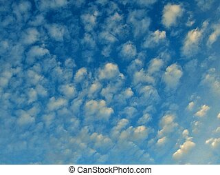 Stratocumulus cloud background 2 - blue background with...
