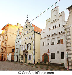 Three Brothersl houses in old town, Riga