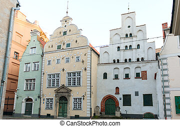 Three Brothersl houses in old town