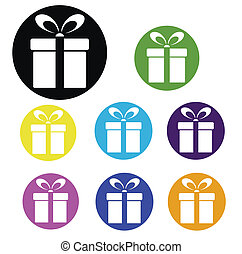 Gift box Vector iconvector illustration