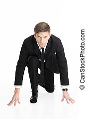 Competition In Business - Portrait of a competitive...