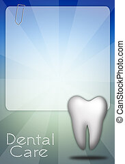 Dental care with tooth