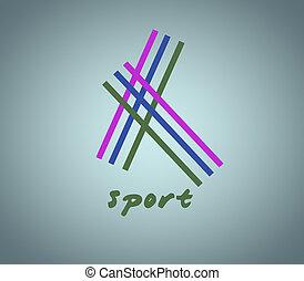 Sport desing - sport desing on blue background