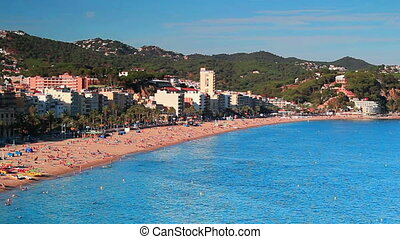 Lloret de Mar Spain beach.