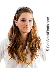 young blonde model - young blond model with white background