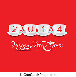 happy new year with cups