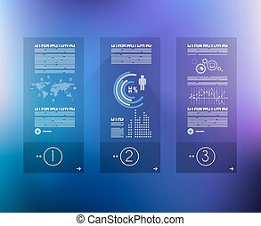 Infographic design template with glass surface. Ideal to...