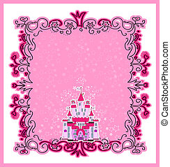 Illustration of Magic Fairy Tale  Princess Castle