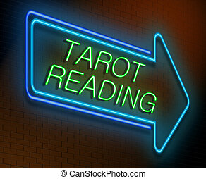 Tarot reading concept - Illustration depicting an...