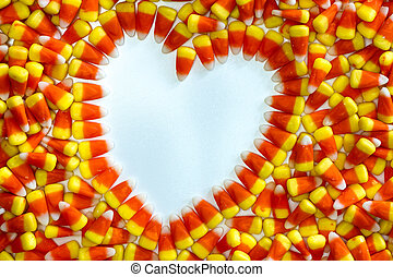 Candy Corn - Heart shape in candy corn
