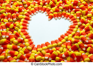 Candy Corn - Candy corn heart