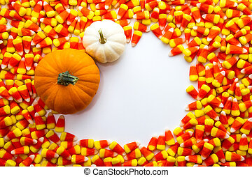 Candy Corn - Candy corn background with orange and white...