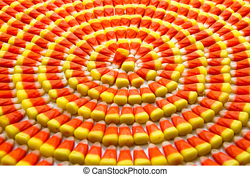 Candy Corn - Candy corn arranged in circles on angle
