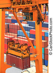 container operation in port