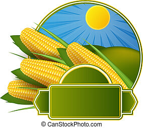 Corn cob label