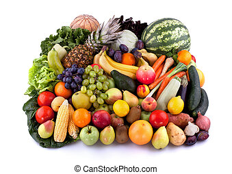 Vegetables and fruits - Collection of vegetables and fruits...