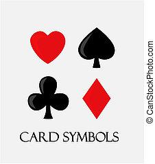 Card symbols.  - Vector card symbols.